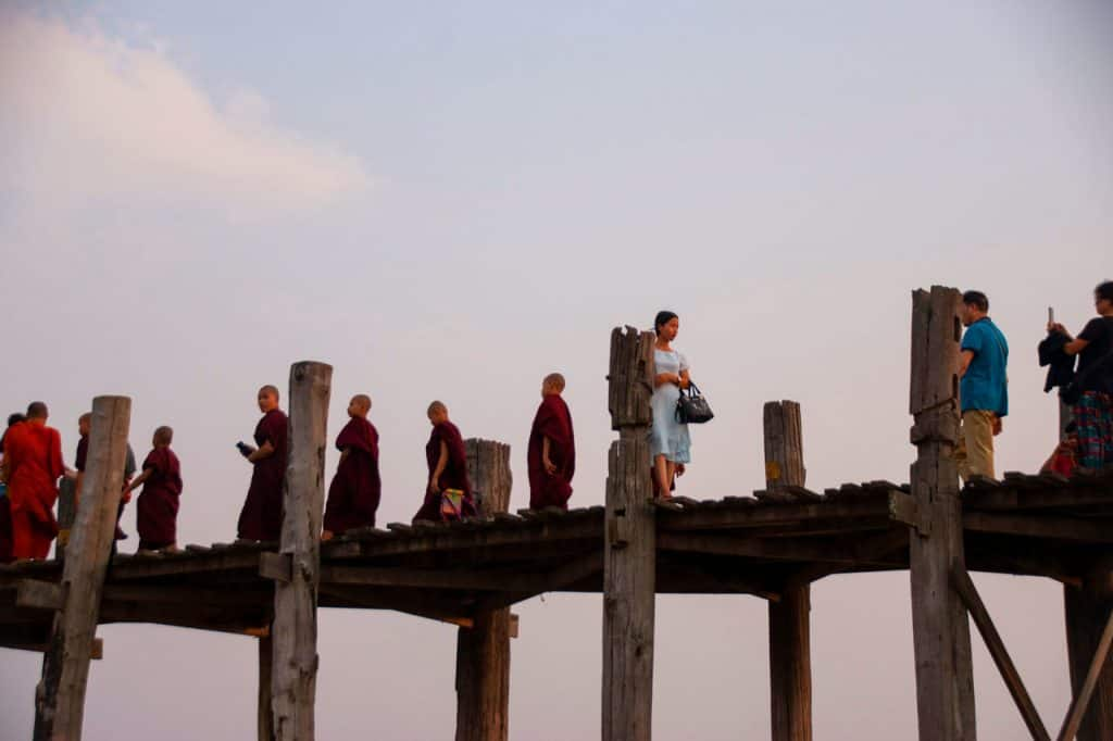 Ubein bridge Mandalay Myanmar Burma