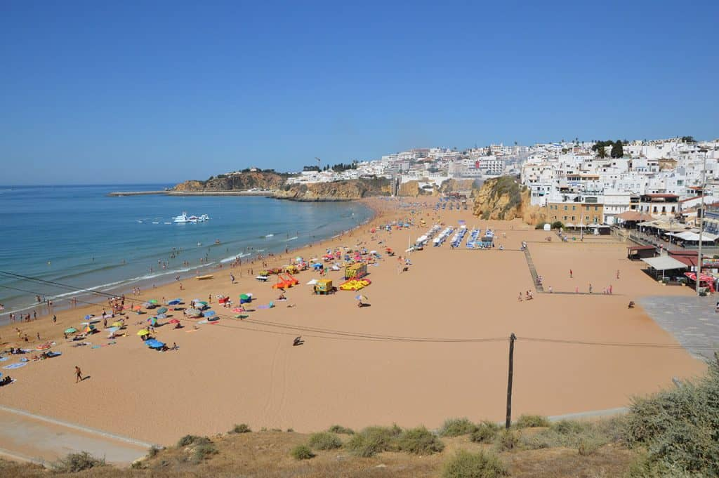Albufeira Beach in October Portugal