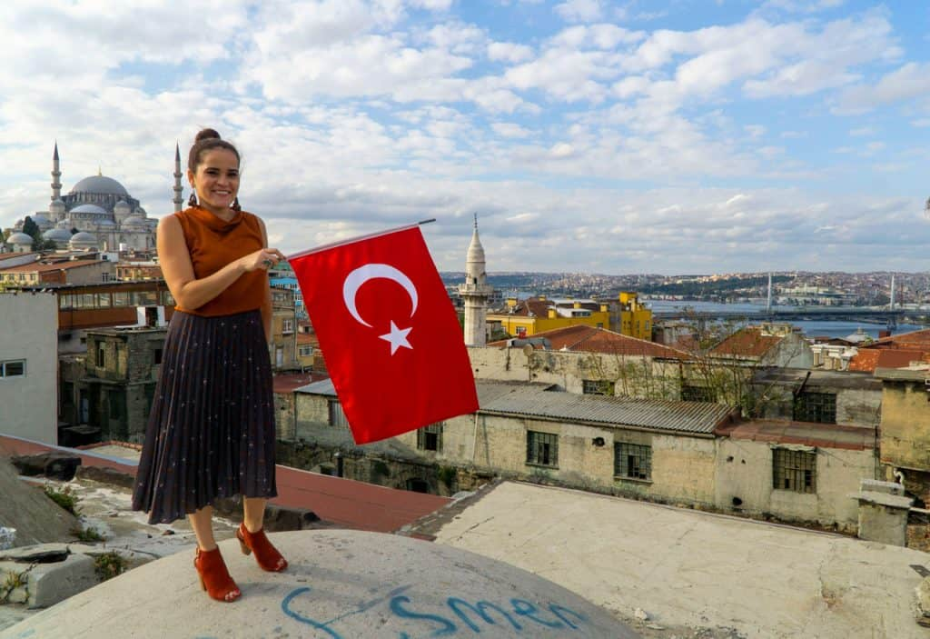 Best places to visit in Istanbul - Secret Rooftop - Olga Maria Dreamsinheels