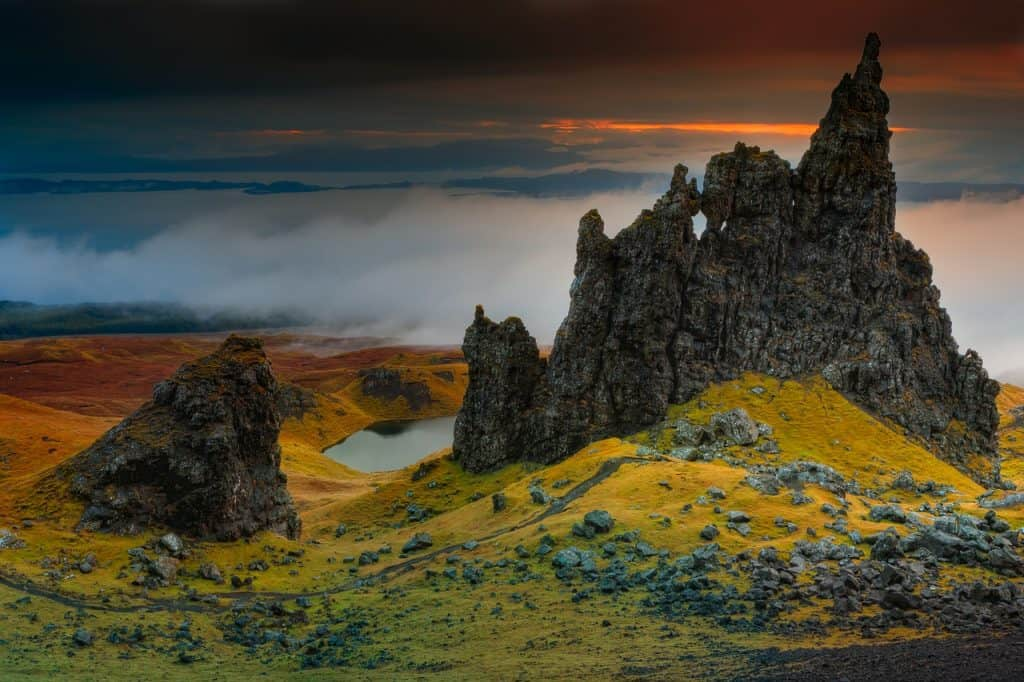 Isle of Skye Scotland in autumn
