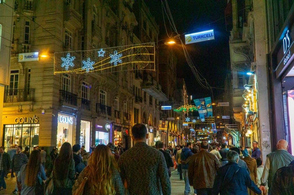 Istiklal Caddesi in Istanbul Turkey