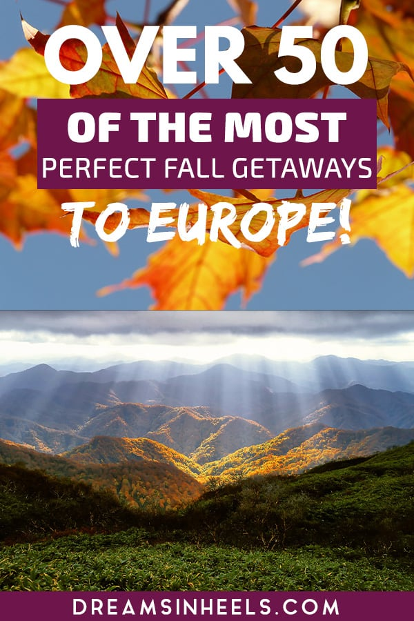 Looking for the best places to visit in Europe in October? Autumn in Europe is one of my favorite times of the year to visit, especially the month of #October. There are many advantages like the weather is mildly cool in some of the hottest #European countries, seeing dreamy places with the #fallfoliage, the beautiful colors of the leaves changing, great fall festivals in #Europe, #Oktoberfest + fewer crowds. So, what are you waiting for? #Autumntravel #Falltravel #Europetravel