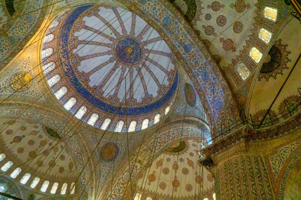 Sultan Ahmet Camii – The Blue Mosque Interior Istanbul Turkey Dreams in Heels