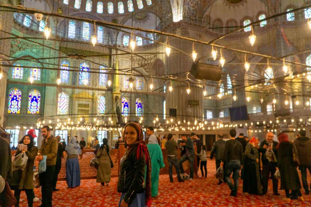 The Blue Mosque Interior Istanbul Turkey Travel Dreams in Heels