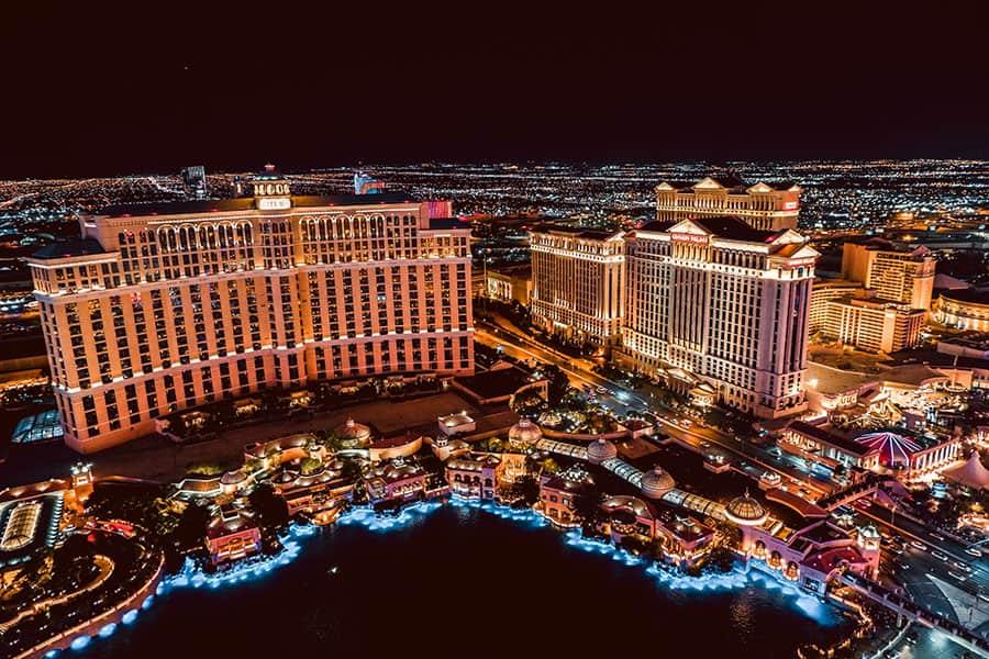 Paukščių akys-Bellagio vaizdas iš Paryžiaus-Eifelio bokšto-Las-Vegaso