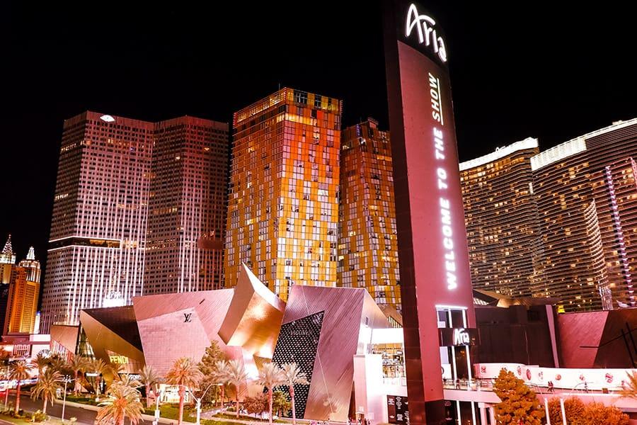 Miesto centras-Foto-naktį-Las-Vegasas