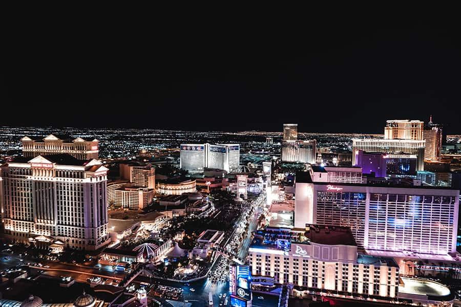 Las Vegaso juostelės vaizdas
