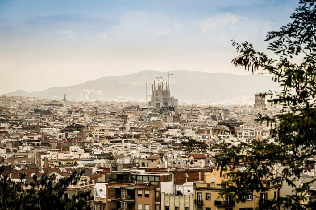 barcelona spain panorama