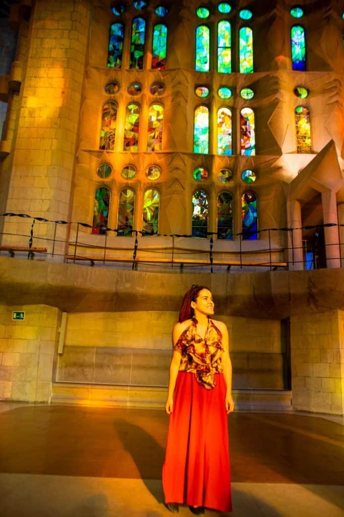 light interior La Sagrada Familia Barcelona Dreamsinheels