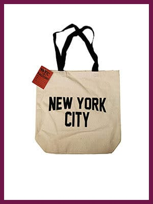 NYC Tote Bag Canvas New York City Gift