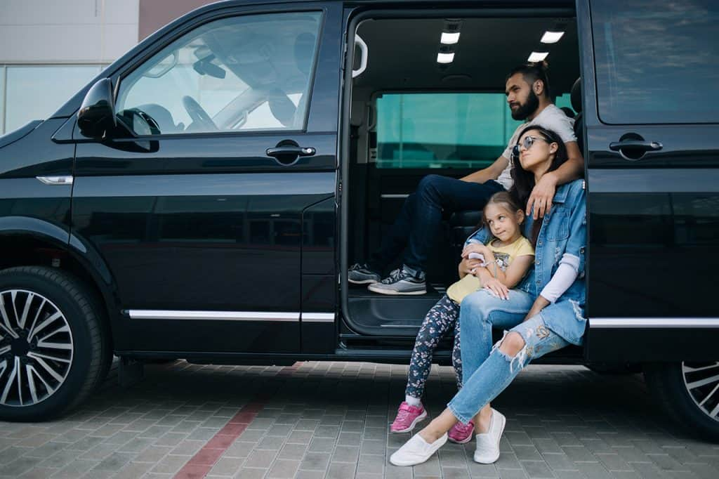black-van-family-travel-car-rental