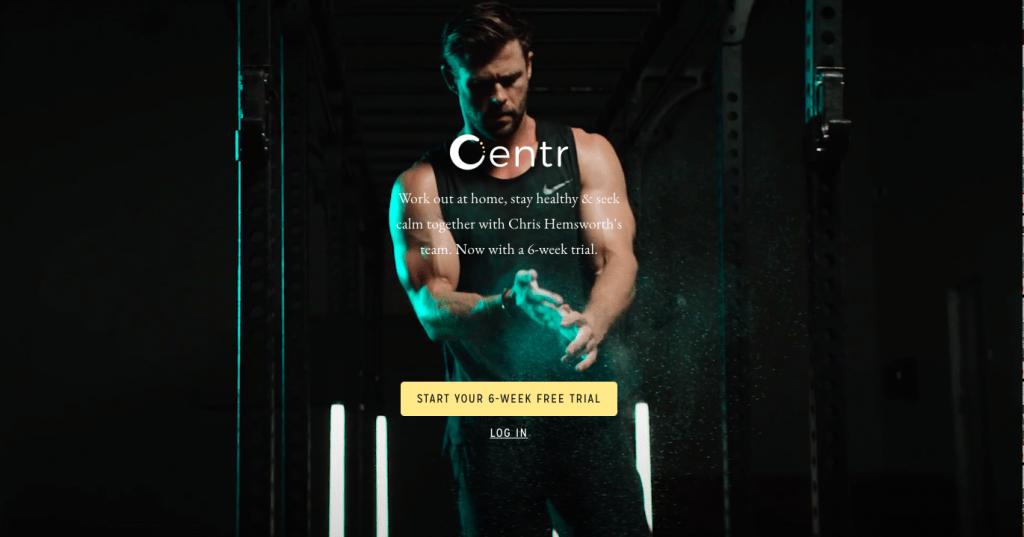 Centr Free trial - Chris Hemsworth - Thor