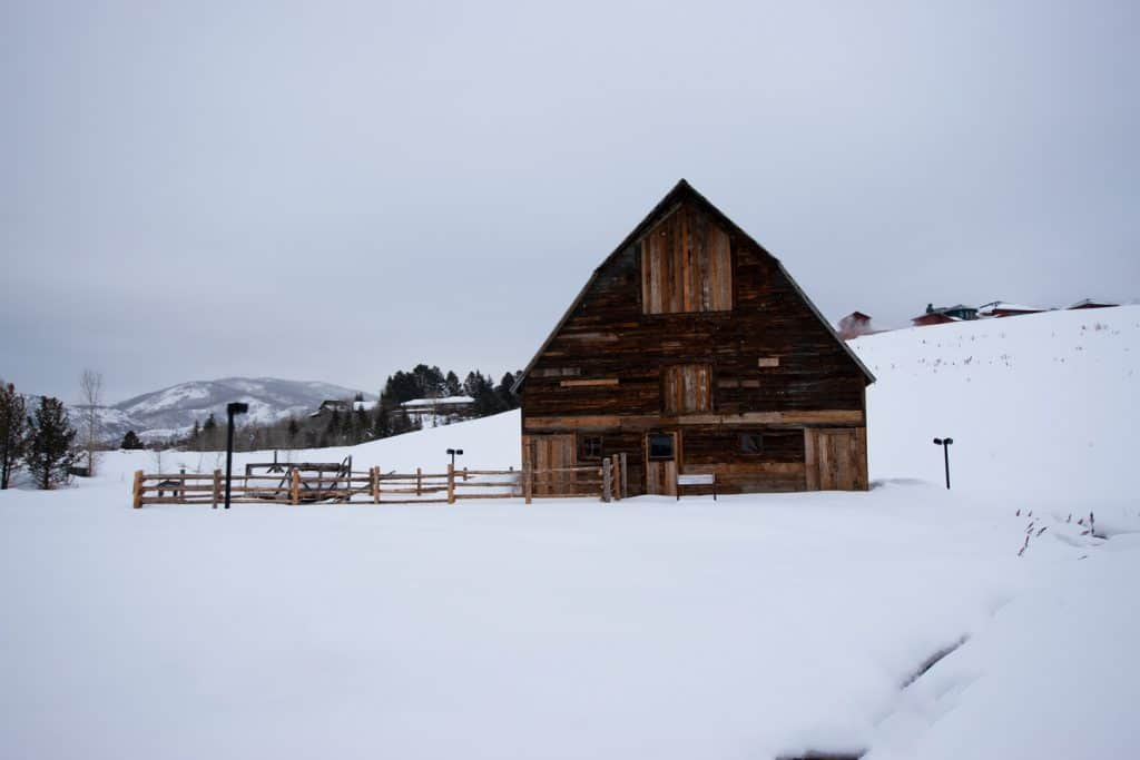 Colorado-Steamboat-Springs-House-In-Snow
