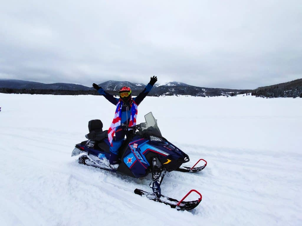 Colorado-Steamboat-Springs-Snowmobile-Hands-up